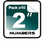 "2"" Race Numbers - 10 pack"